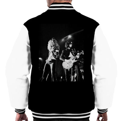 Led Zeppelin Jimmy Page Robert Plant Cardiff Capitol Theatre 1972 Men's Varsity Jacket - Don't Talk To Me About Heroes