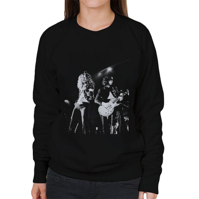 Led Zeppelin Jimmy Page Robert Plant Cardiff Capitol Theatre 1972 Women's Sweatshirt - Don't Talk To Me About Heroes