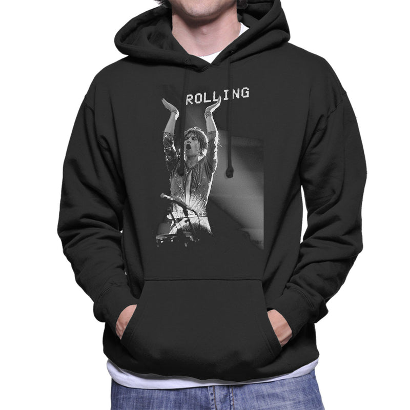 The Rolling Stones Mick Jagger Rotterdam 1973 Men's Hooded Sweatshirt - Don't Talk To Me About Heroes