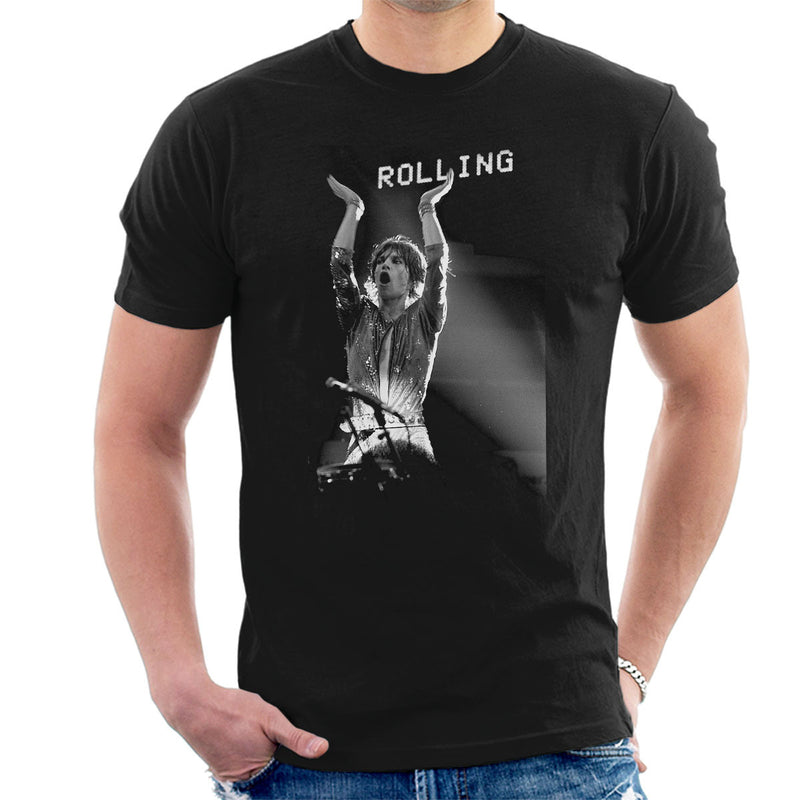 The Rolling Stones Mick Jagger Rotterdam 1973 Men's T-Shirt