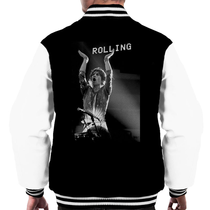 The Rolling Stones Mick Jagger Rotterdam 1973 Men's Varsity Jacket - Don't Talk To Me About Heroes