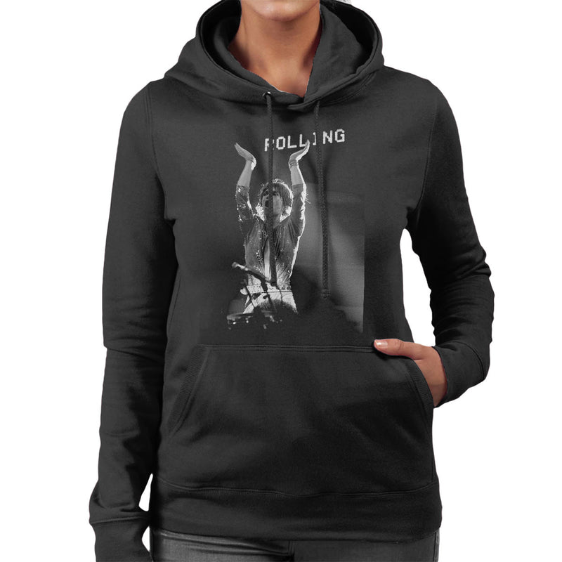 The Rolling Stones Mick Jagger Rotterdam 1973 Women's Hooded Sweatshirt - Don't Talk To Me About Heroes