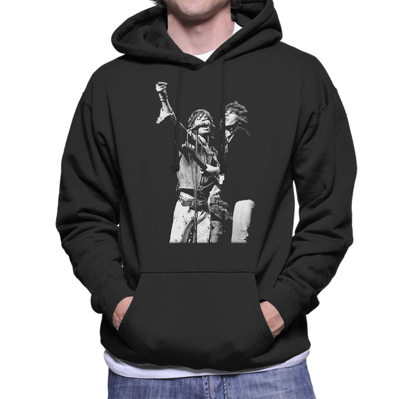 The Rolling Stones Mick Jagger Keith Richards Rotterdam 1973 Men's Hooded Sweatshirt - Don't Talk To Me About Heroes