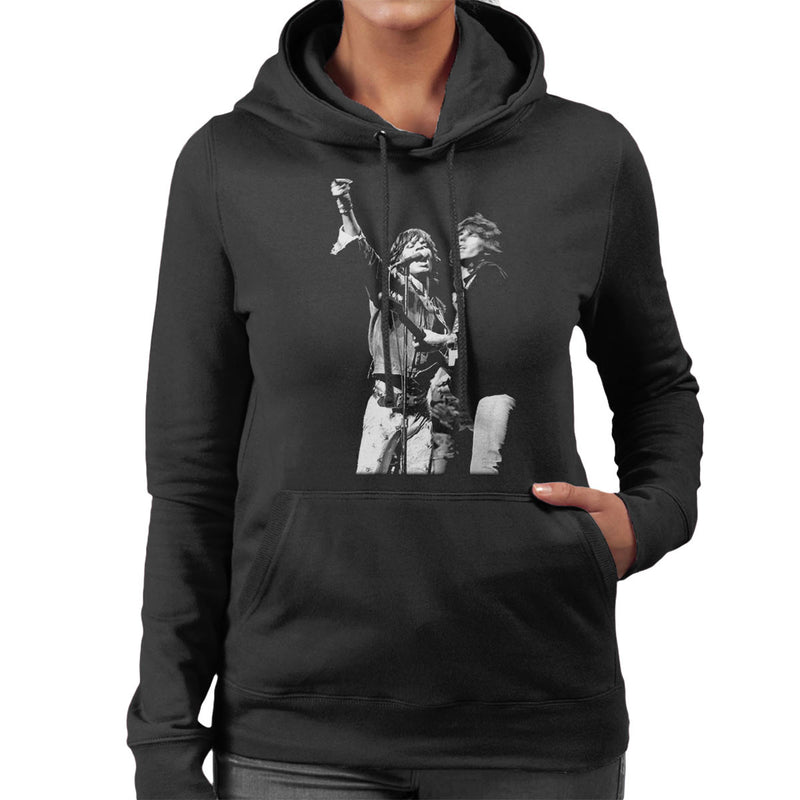 The Rolling Stones Mick Jagger Keith Richards Rotterdam 1973 Women's Hooded Sweatshirt - Don't Talk To Me About Heroes