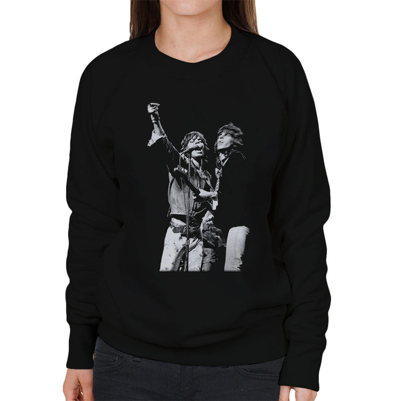 The Rolling Stones Mick Jagger Keith Richards Rotterdam 1973 Women's Sweatshirt - Don't Talk To Me About Heroes