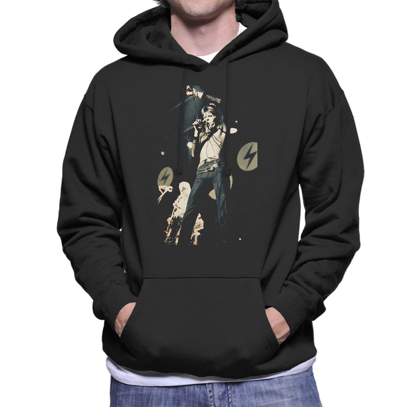David Bowie Ziggy Stardust Lightening Hammersmith Odeon 1973 Men's Hooded Sweatshirt - Don't Talk To Me About Heroes