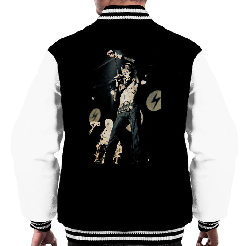 David Bowie Ziggy Stardust Lightening Hammersmith Odeon 1973 Men's Varsity Jacket - Don't Talk To Me About Heroes