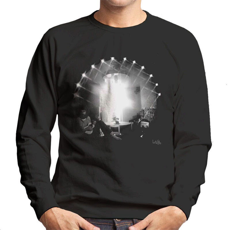 Cat Stevens Playing Guitar Men's Sweatshirt