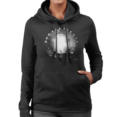 Cat Stevens Playing Guitar Women's Hooded Sweatshirt - Don't Talk To Me About Heroes