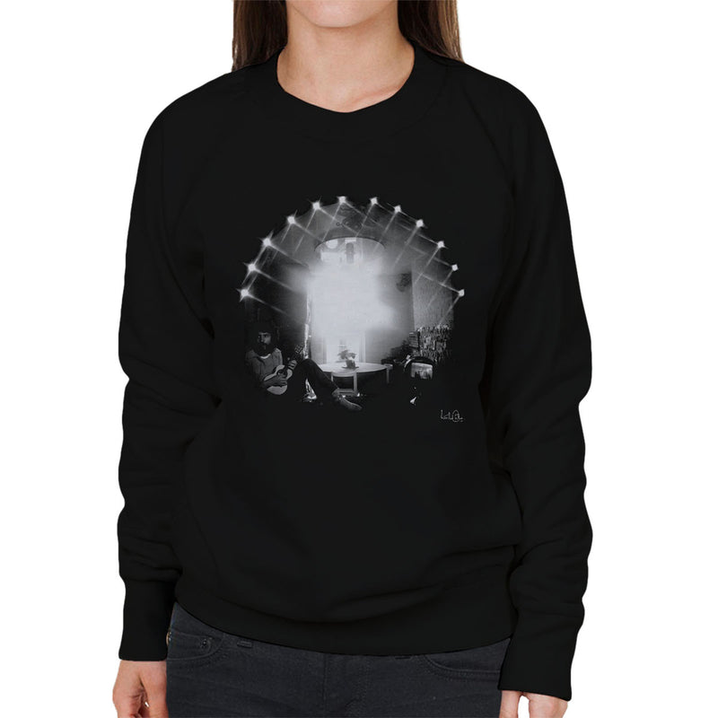 Cat Stevens Playing Guitar Women's Sweatshirt