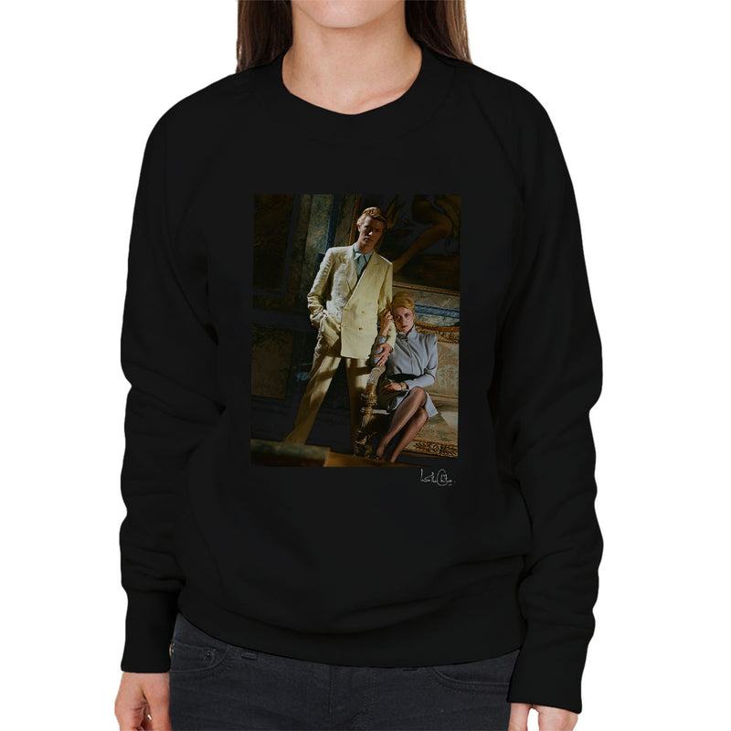 David Bowie And Catherine Deneuve The Hunger Movie Women's Sweatshirt - Don't Talk To Me About Heroes