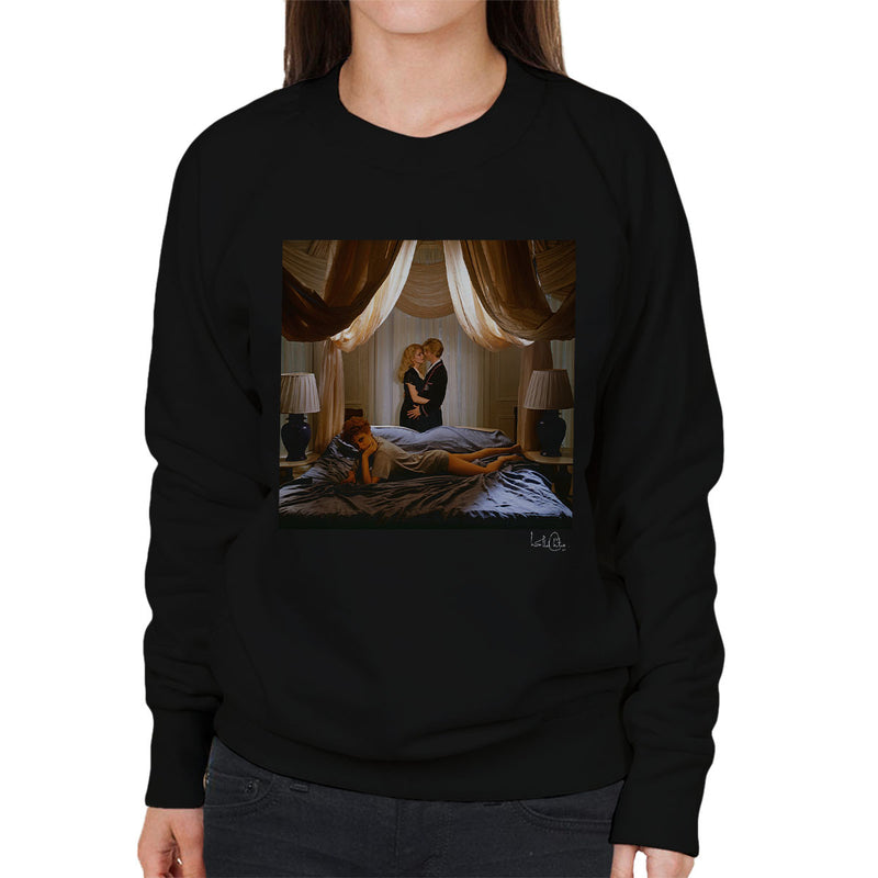 David Bowie Susan Sarandon And Catherine Deneuve The Hunger Movie Women's Sweatshirt