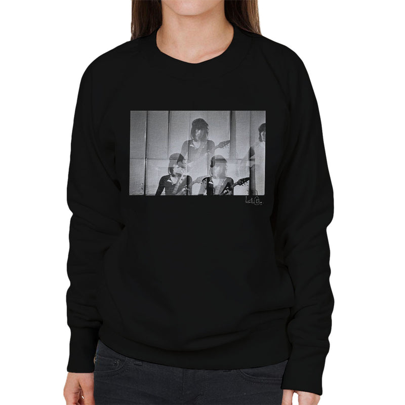 Rolling Stones Keith Richards Guitar Women's Sweatshirt - Don't Talk To Me About Heroes