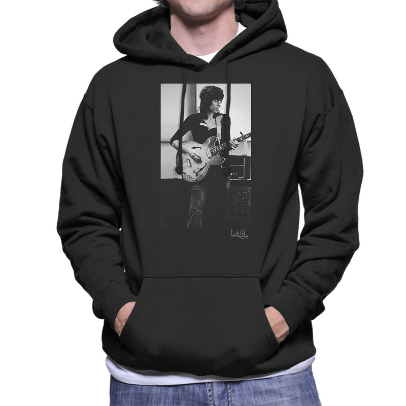Rolling Stones Keith Richards Playing Guitar Men's Hooded Sweatshirt - Don't Talk To Me About Heroes