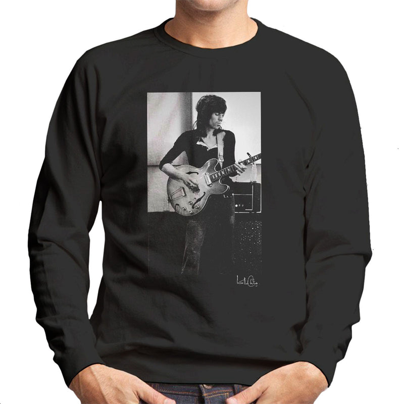 Rolling Stones Keith Richards Playing Guitar Men's Sweatshirt - Don't Talk To Me About Heroes