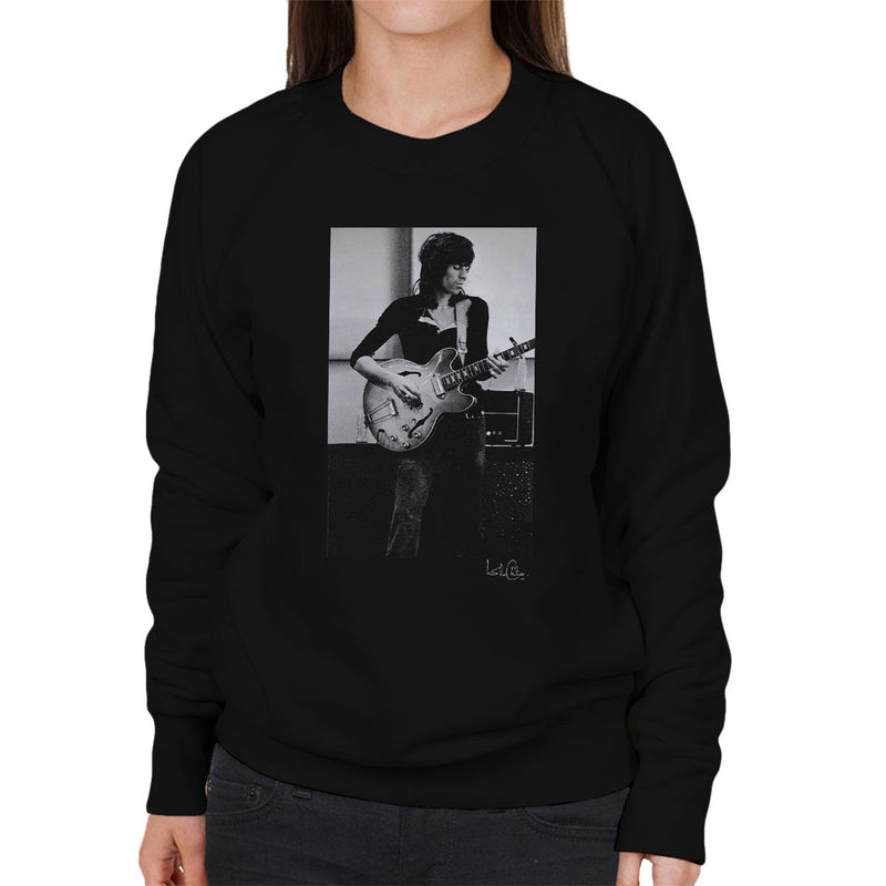 Rolling Stones Keith Richards Playing Guitar Women's Sweatshirt - Don't Talk To Me About Heroes