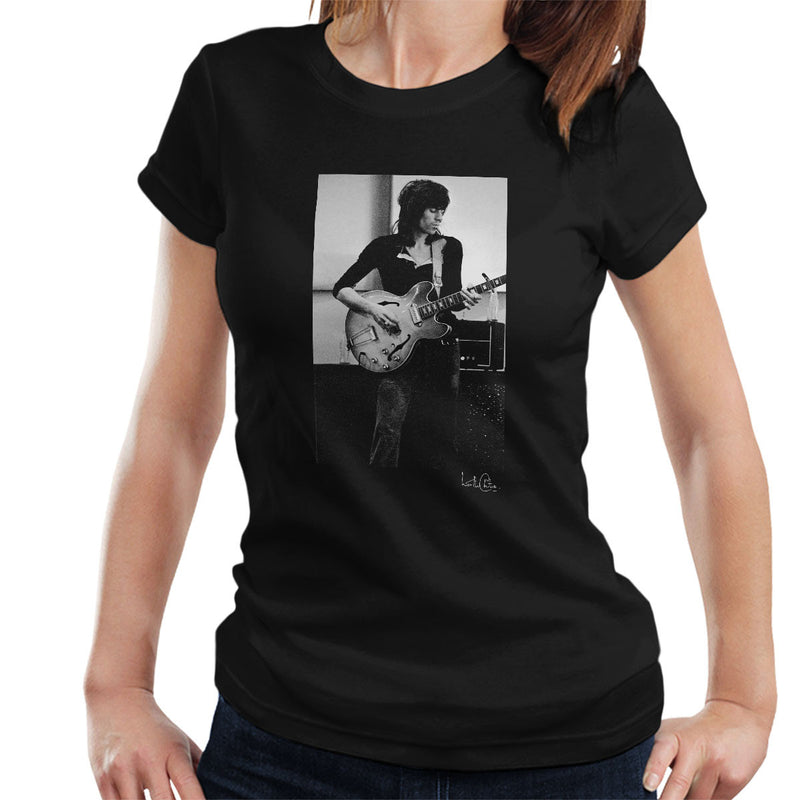 Rolling Stones Keith Richards Playing Guitar Women's T-Shirt