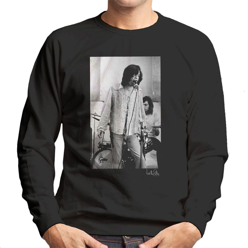 Rolling Stones Mick Jagger Performing Men's Sweatshirt - Don't Talk To Me About Heroes