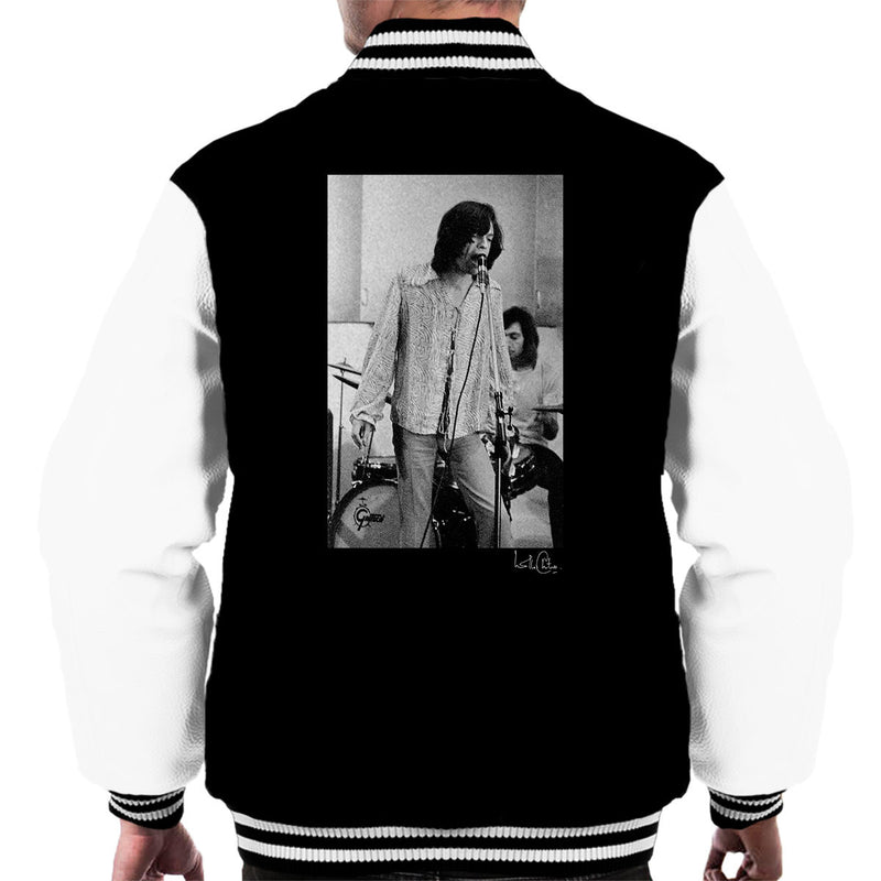 Rolling Stones Mick Jagger Performing Men's Varsity Jacket - Don't Talk To Me About Heroes