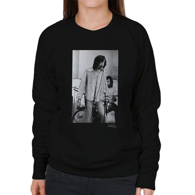 Rolling Stones Mick Jagger Performing Women's Sweatshirt - Don't Talk To Me About Heroes
