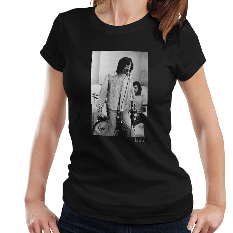 Rolling Stones Mick Jagger Performing Women's T-Shirt - Don't Talk To Me About Heroes