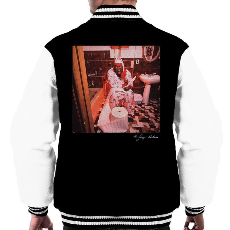 Biz Markie Writing On The Toilet Men's Varsity Jacket - Don't Talk To Me About Heroes