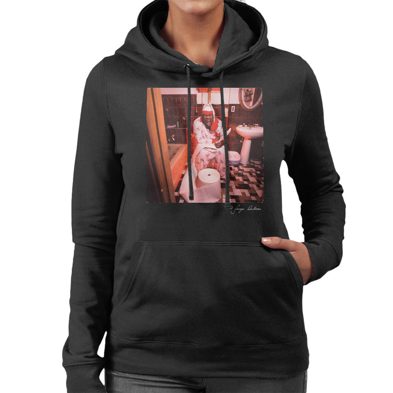 Biz Markie Writing On The Toilet Women's Hooded Sweatshirt - Don't Talk To Me About Heroes