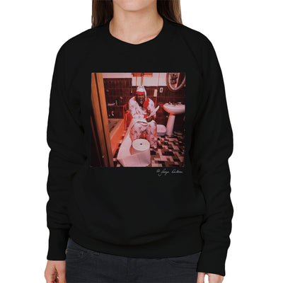 Biz Markie Writing On The Toilet Women's Sweatshirt - Don't Talk To Me About Heroes
