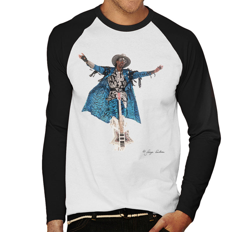 Bootsy Collins Guitar Men's Baseball Long Sleeved T-Shirt - Don't Talk To Me About Heroes