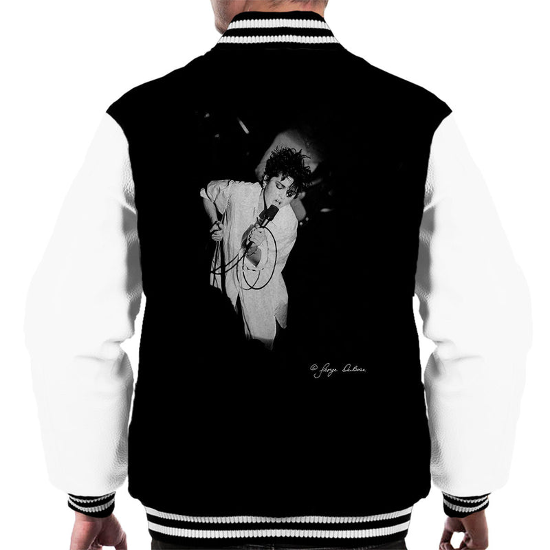 Madonna Singing Microphone Men's Varsity Jacket - Don't Talk To Me About Heroes