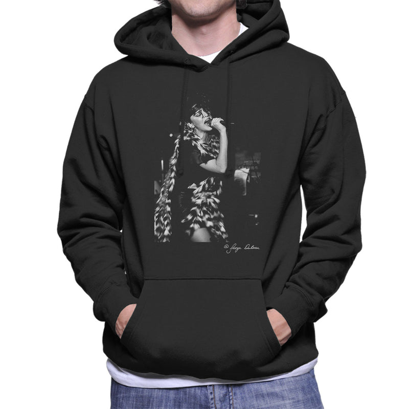 Madonna Singing Fur Scarf Men's Hooded Sweatshirt - Don't Talk To Me About Heroes