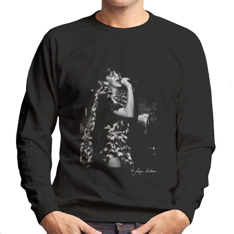 Madonna Singing Fur Scarf Men's Sweatshirt