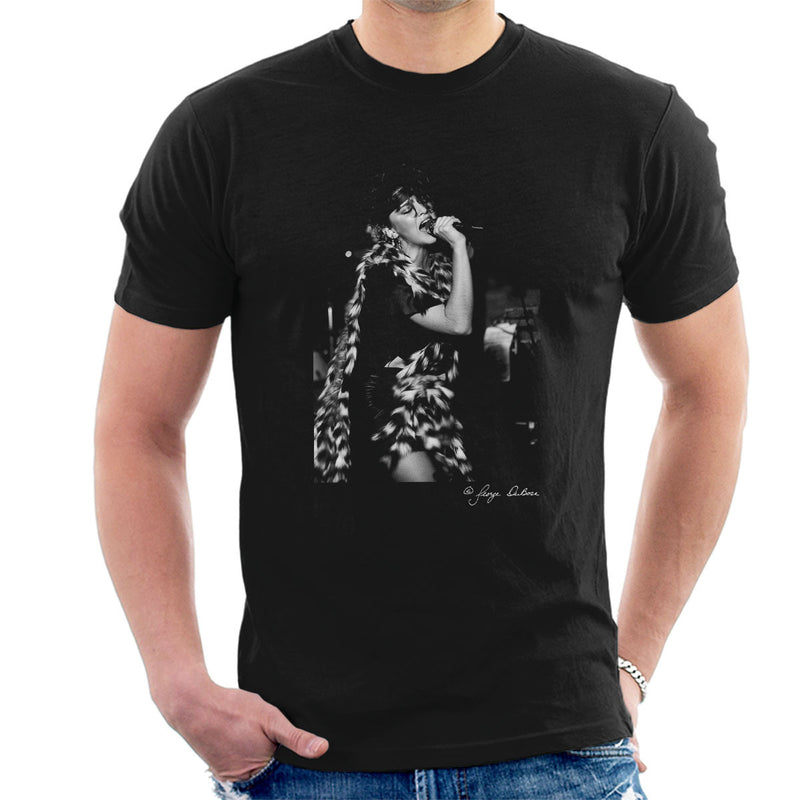 Madonna Singing Fur Scarf Men's T-Shirt