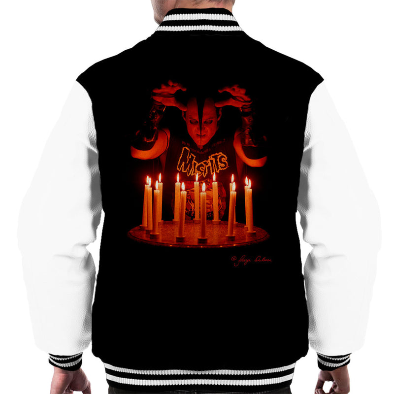 Misfits Jerry Candles Men's Varsity Jacket - Don't Talk To Me About Heroes