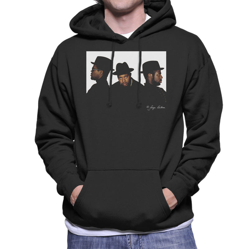 Run DMC Joseph Simmons Darryl McDaniels and Jason Mizell Men's Hooded Sweatshirt - Don't Talk To Me About Heroes