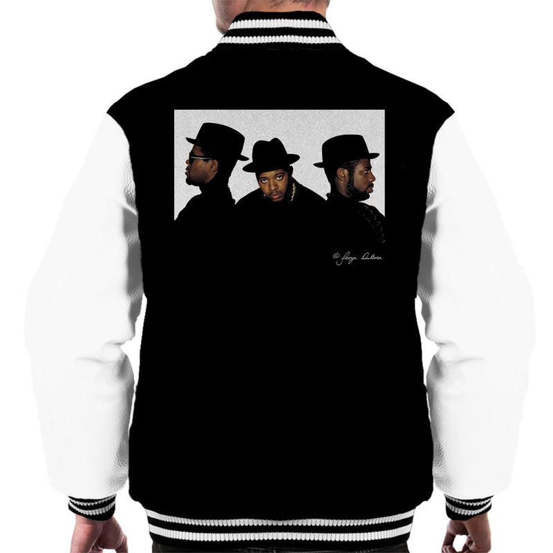 Run DMC Joseph Simmons Darryl McDaniels and Jason Mizell Men's Varsity Jacket - Don't Talk To Me About Heroes