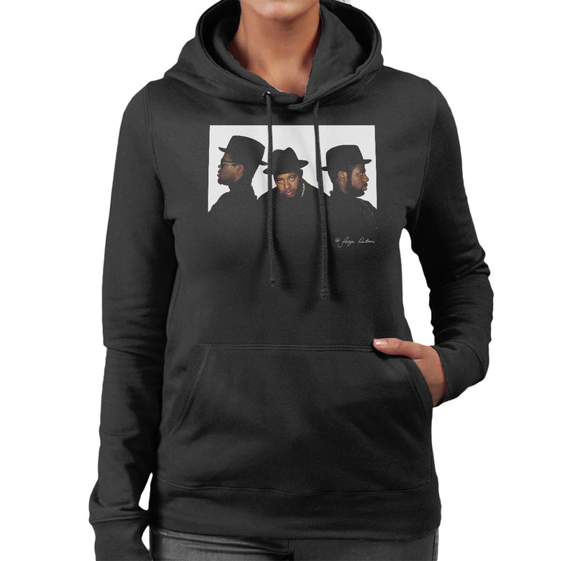 Run DMC Joseph Simmons Darryl McDaniels and Jason Mizell Women's Hooded Sweatshirt - Don't Talk To Me About Heroes