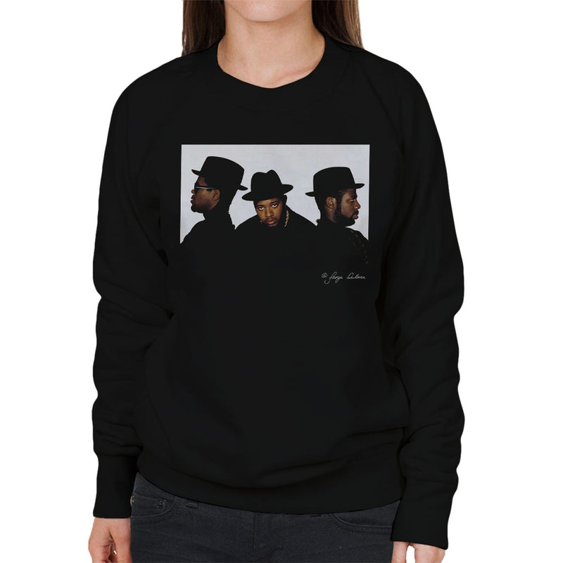 Run DMC Joseph Simmons Darryl McDaniels and Jason Mizell Women's Sweatshirt - Don't Talk To Me About Heroes
