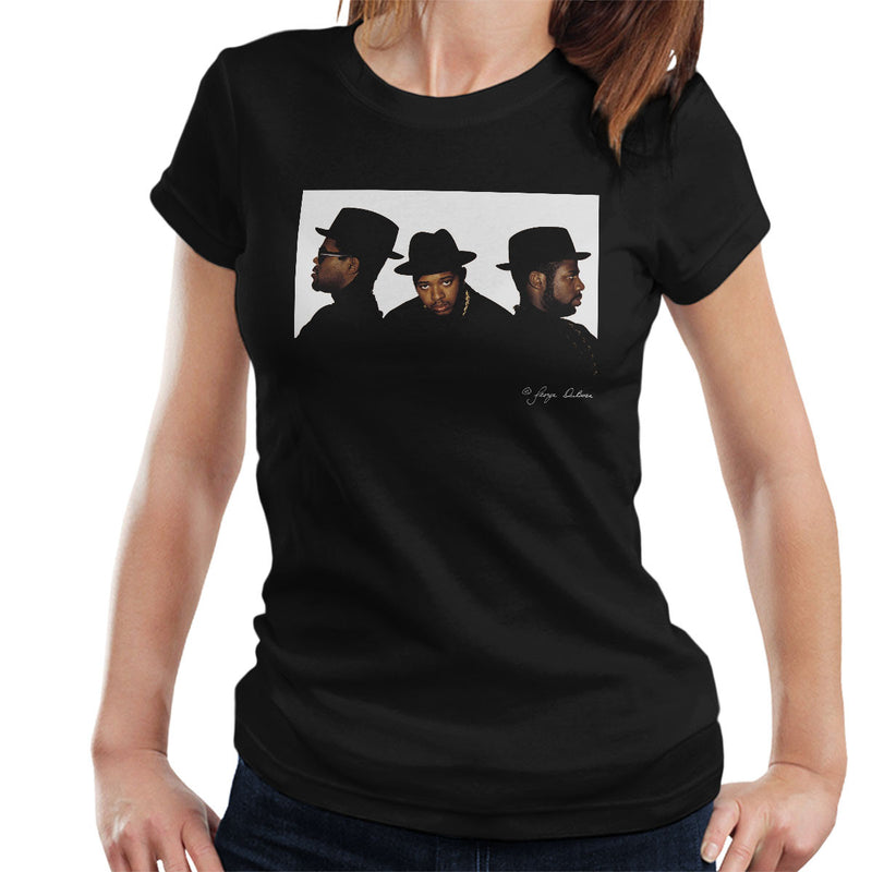 Run DMC Joseph Simmons Darryl McDaniels and Jason Mizell Women's T-Shirt