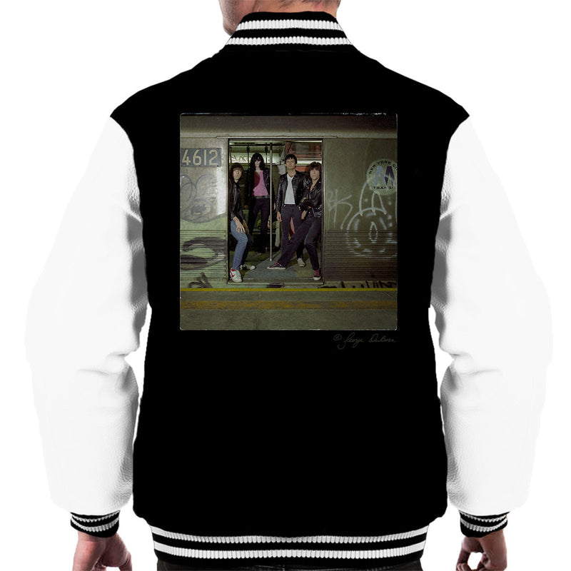 Ramones Subterranean Jungle Album Men's Varsity Jacket - Don't Talk To Me About Heroes