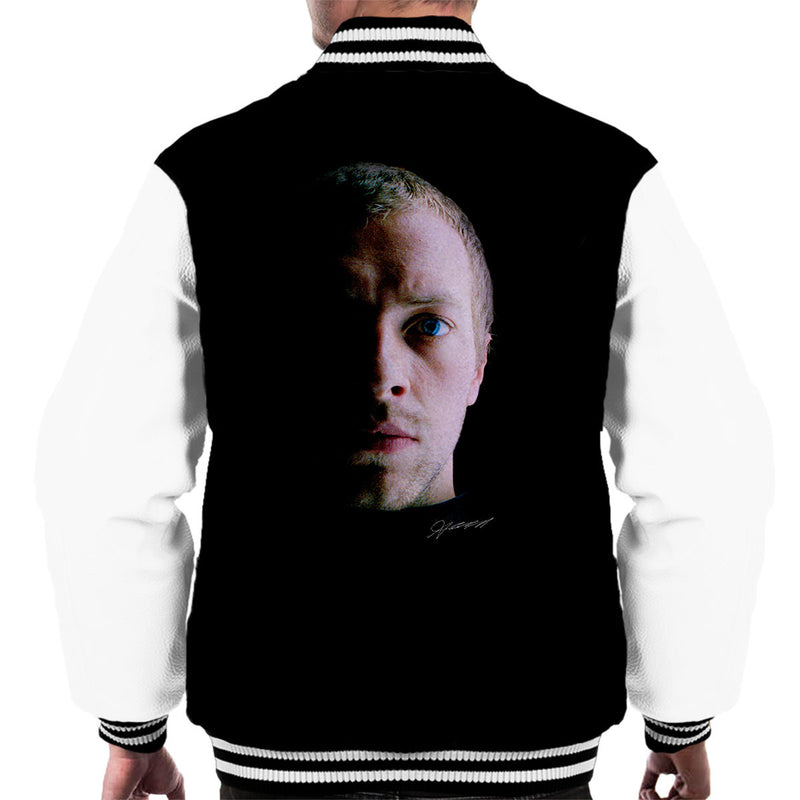 Coldplay Chris Martin Close Up Men's Varsity Jacket - Don't Talk To Me About Heroes
