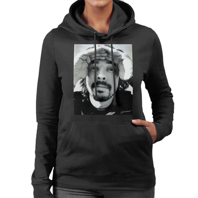 Dave Grohl Photoshoot Munich Rooftop 2007 Women's Hooded Sweatshirt - Don't Talk To Me About Heroes