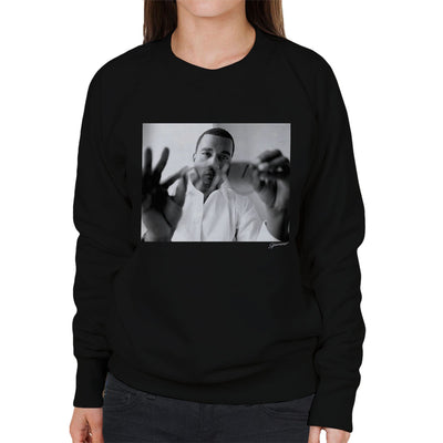 Kanye West Through Sunglasses Women's Sweatshirt