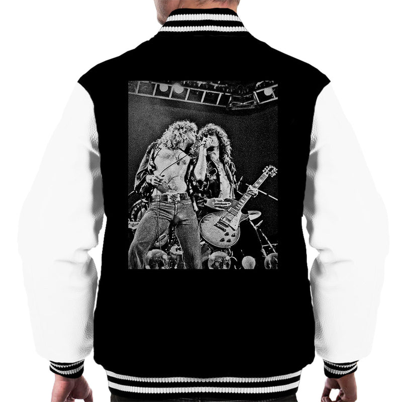 Robert Plant Jimmy Page Led Zeppelin Earls Court 24th May 1975 Men's Varsity Jacket - Don't Talk To Me About Heroes