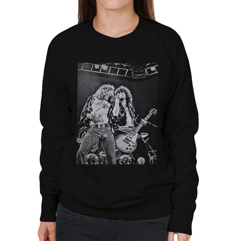 Robert Plant Jimmy Page Led Zeppelin Earls Court 24th May 1975 Women's Sweatshirt - Don't Talk To Me About Heroes
