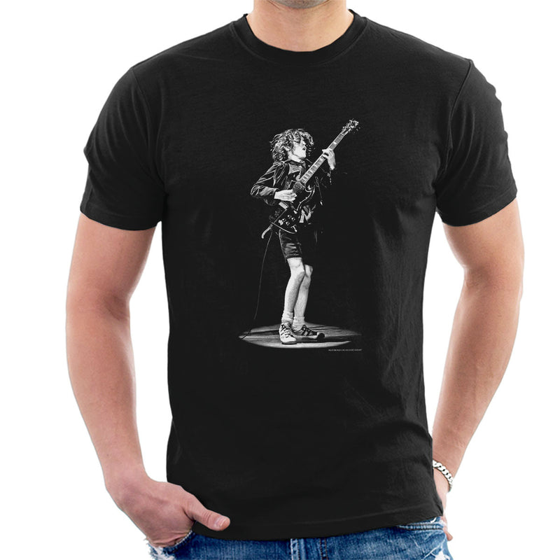 Angus Young ACDC 1976 Men's T-Shirt - Don't Talk To Me About Heroes