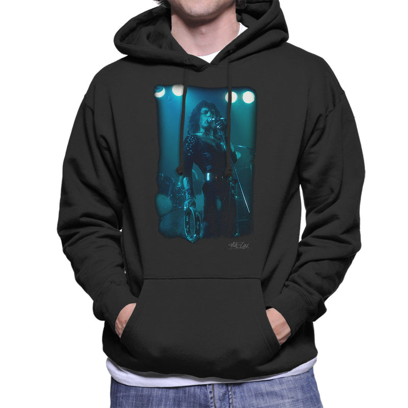 Freddie Mercury In Black Queen On Stage Men's Hooded Sweatshirt