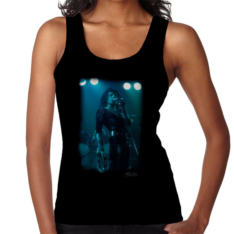 Freddie Mercury In Black Queen On Stage Women's Vest
