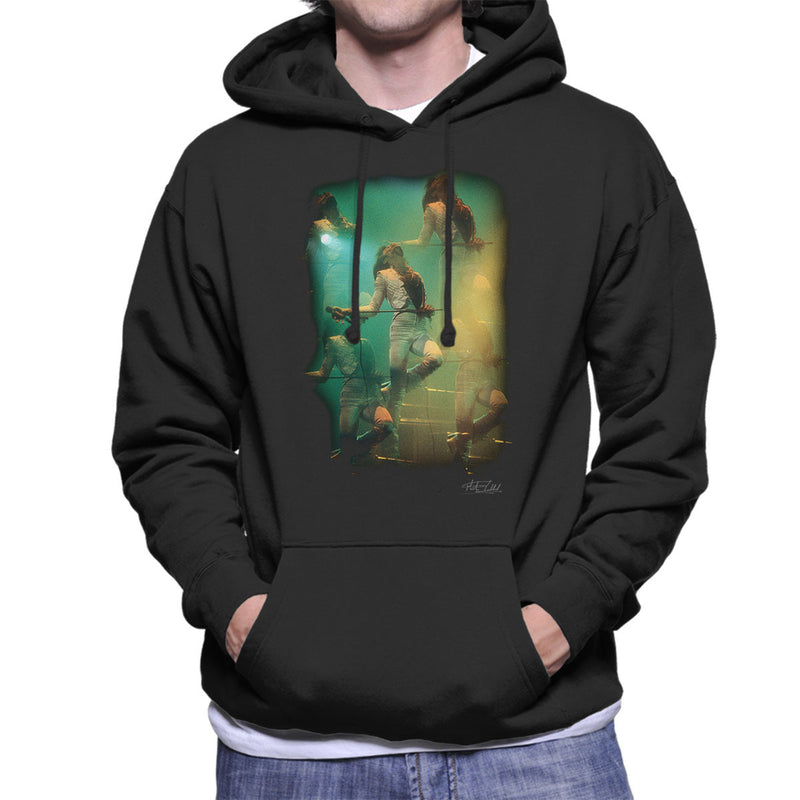 Freddie Mercury In White Queen On Stage Men's Hooded Sweatshirt
