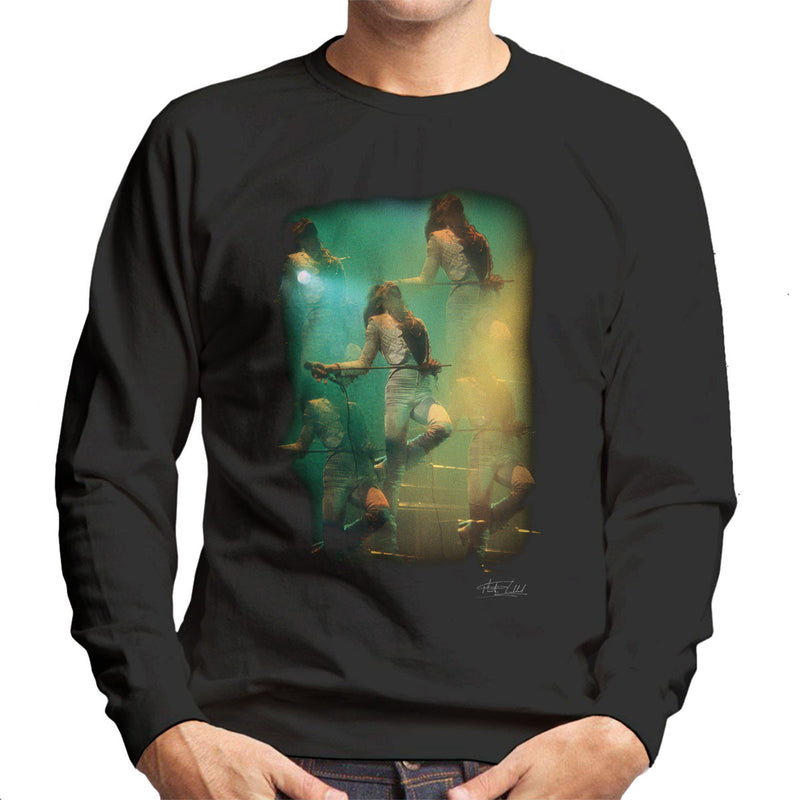 Freddie Mercury In White Queen On Stage Men's Sweatshirt - Don't Talk To Me About Heroes